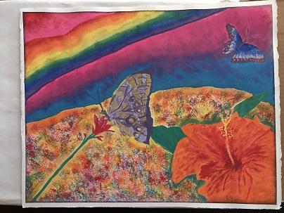 2017Dec31 RainbowButterflyFlowersSMALL