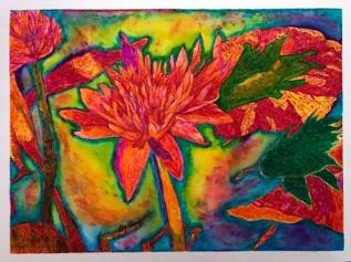 LilyLilyPadWatercolorFinishedSMALL